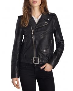 Perfecto en cuir noir pour femme, LCW8600 de Schott e287c2ac93f